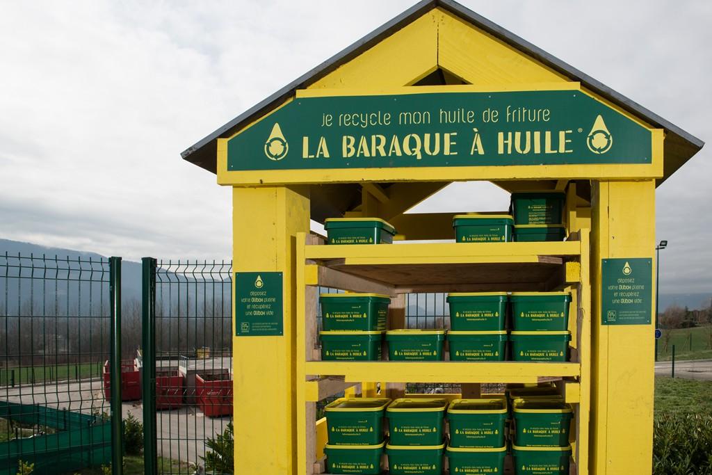 Huile de friture collectée par La Baraque à Huile