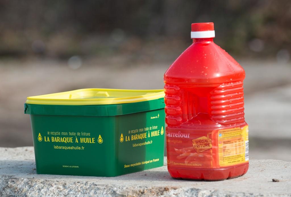 Olibox, seau de 3 litres pour apport volontaire de l'huile usagée