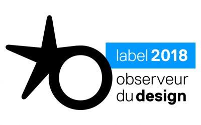 La Baraque à Huile reçoit le Label Observeur du design 2018