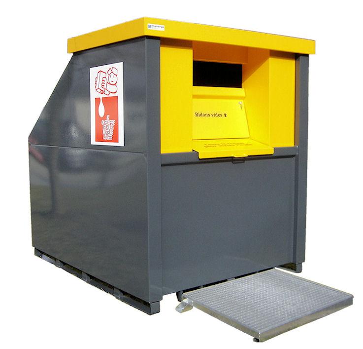 collecteur huile minérale usagée pour déchetterie