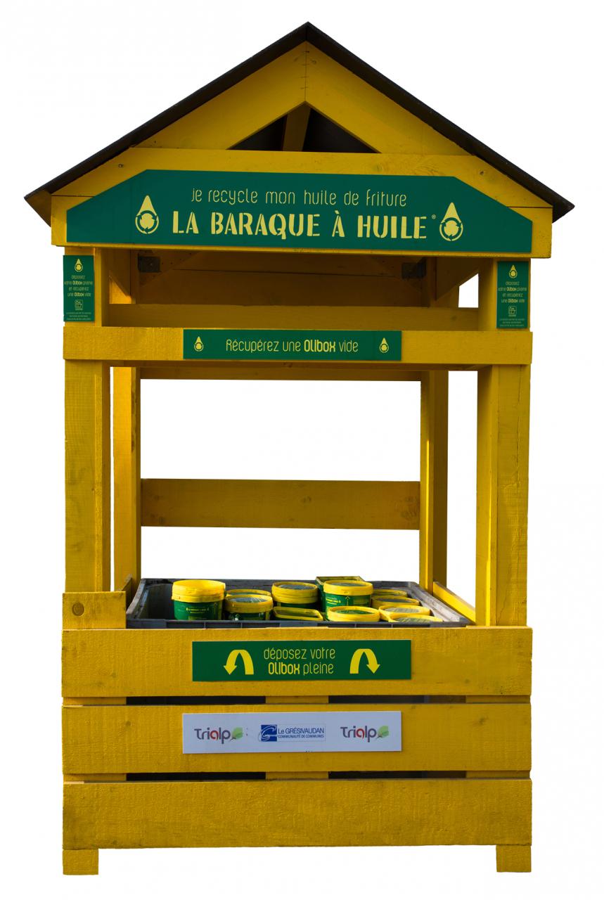 La Baraque à Huile, collecter plus et mieux l'huile de friture