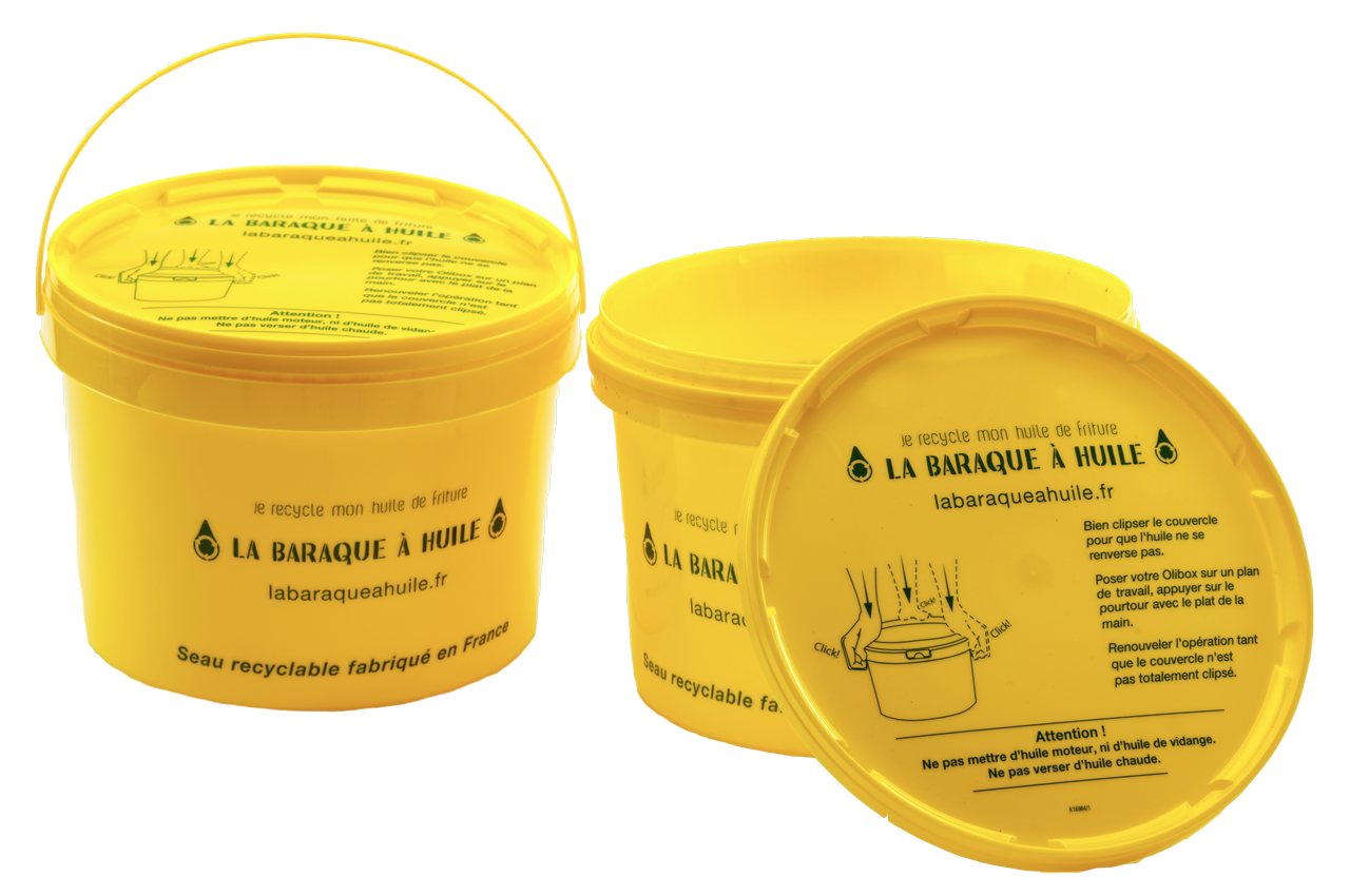 Olibox seau pour huiles usagées par La Baraque à huile